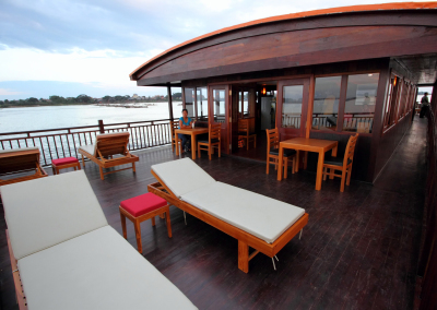 Outside deck and restaurant